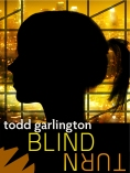 Blind Turn Book Cover: City Skyline & Silhouette of Girl