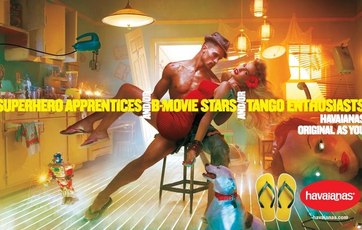 Havaianas sandals ad: B-Movie stars on set.