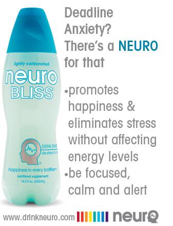 Neuro Bliss Smart Drink Ad: Bottle & Logo