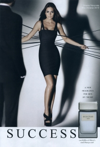 Cologne ad: Miss Universe selling Success.