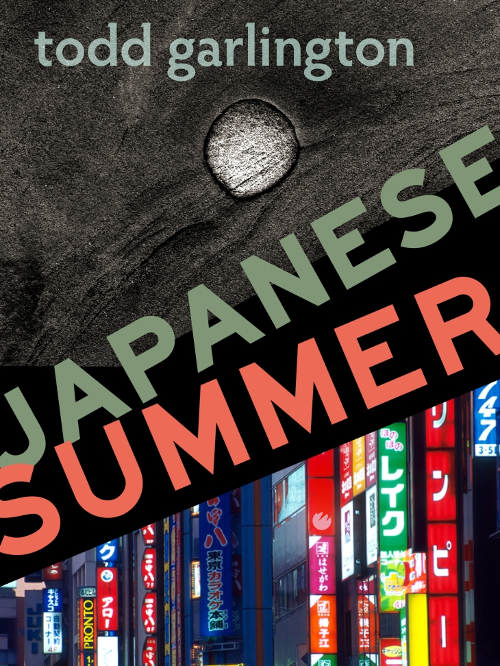 Japanese Summer by Todd Garlington book cover: Tokyo, sand, and text.