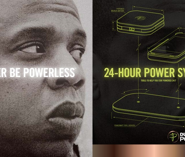 Duracell Powermat ad featuring Jay-Z.